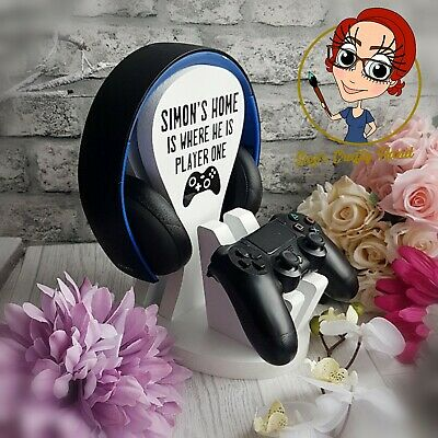 Single Personalised Gaming Headset & Controller Stand Xbox Fathers Day, any name