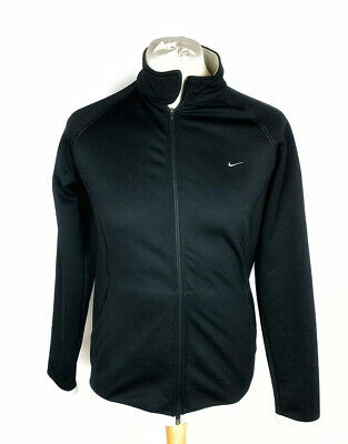 NIKE GOLF THERMA FIT Womens Black Full Zip Jacket 14/16 Polyester