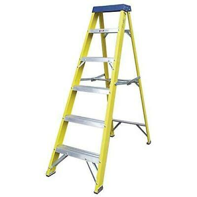 6-Step Heavy Duty Fibreglass Step Ladder for Electricians