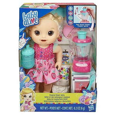 Baby Alive Magical Mixer Baby Doll Strawberry Shake Blender Accessories - Blonde