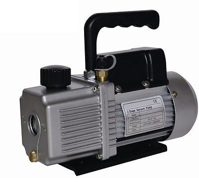 New - 6.0 CFM   Two 2 Stage 1/2HP  Vacuum Pump  AIR CONDITIONER REFRIGERATION