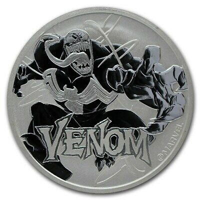 2020 Tuvalu 1 oz Silver $1 Marvel Series Venom BU Perth Mint Uk seller in stock