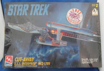 Star Trek USS Enterprise Cut-Away Model Kit AMT ERTL NEW Sealed 8790