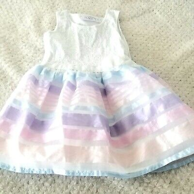 The Childrens Place Toddler Girls 5T Easter Dress Multi Color