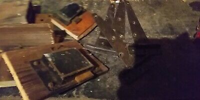 joblot of Victorian and antique locks / keys / hinges /