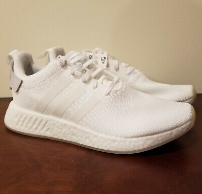 NEW* MEN ADIDAS Originals NMD_R2 Triple White (CQ2401), Sz