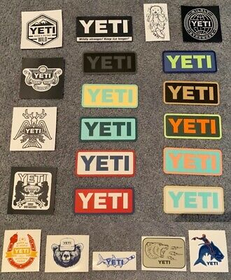 Authentic YETI Decal / Stickers - Your Choice (23 Choices)