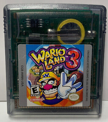 Wario Land 3 for Nintendo GameBoy Color GBC Cartridge Only Authentic NTSC Colour