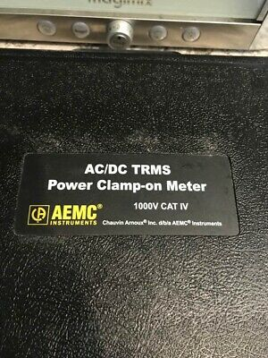 AEMC 607 1000V AC/DC, 2000A AC/3000A DC Power Clamp-On Meter