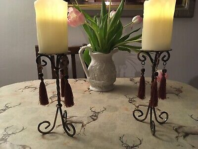 """large candle stick holders """"no candles Inc"""""""