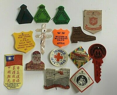 15 Various Appeal Day Pin Badges Includes WW2