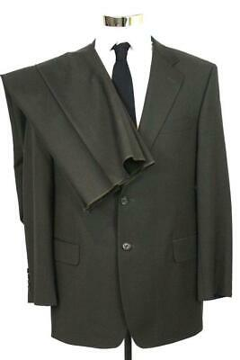 NEW mens olive green PAUL FREDRICK SUIT blazer jacket sport coat pants wool 41 R
