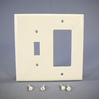 Eagle White Mid-Size 2G Combination Decorator Switch Cover GFI Wallplate 2053W