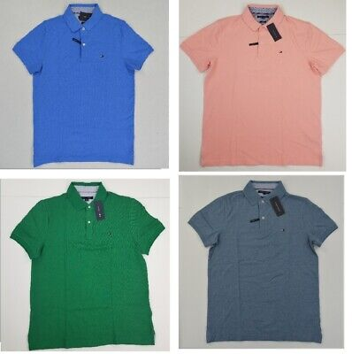 Tommy Hilfiger Mens Polo Shirt Short Sleeve Collared Graphic Logo Casual New Nwt