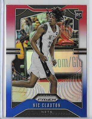 2019-20 Prizm Nic Claxton Red White And Blue Refractor Rookie SP No. 292
