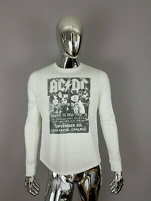 NEW JUNK FOOD AC DC HIGHWAY TO HELL TOUR WHITE GRAPHIC T Shirt Size M
