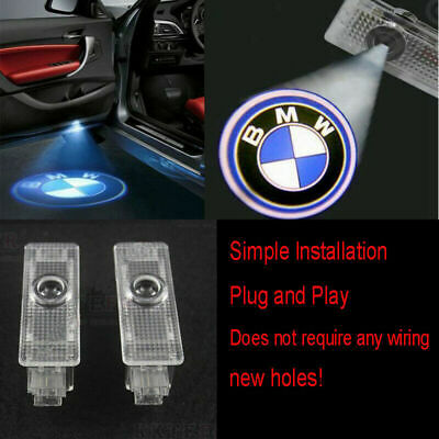 2X LED Courtesy Laser Welcome Projector Logo Shadow Car Door Light Lamp For BMW