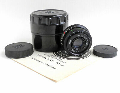 Industar-50-2 50mm f3,5 M42 KMZ USSR Pancake lens for SLR Zeiss Tessar copy 1983