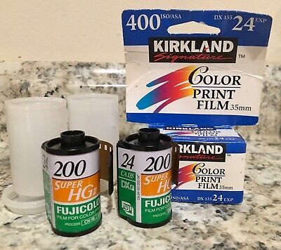 35MM New Film Fuficolor Super HQ 200 ~48 Exp & Kirkland 400 ISO 24 Exp, Expired