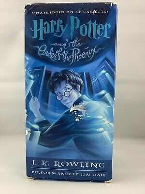 Harry Potter And The Order of the Phoenix JK Rowling Audiobook 17 Cassette Used
