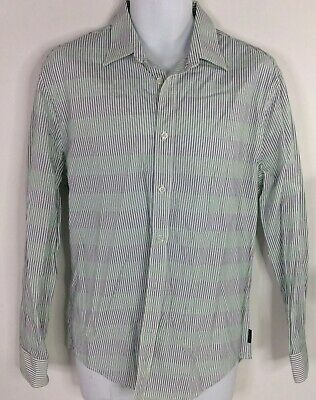 Perry Ellis Shirt Casual Long Sleeve Button Front Two Tone Green Purple Mens M