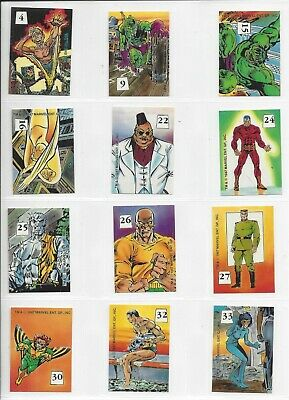 Marvel X-Men Mutant Hall of Fame stickers (1987 - Comic Images) - lot of 27