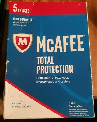 McAfee 2017 Total Protection 5 Devices Key Code #6249