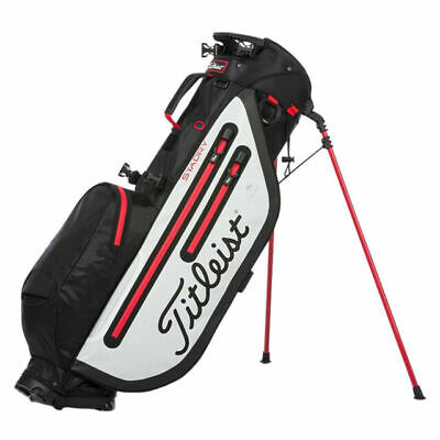 New In Stock Titleist 2019 Players 4 StaDry Stand Bag (Black/White/Red)