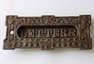 """Antique Victorian  Letterbox. Small Cast Iron """"Letters"""""""