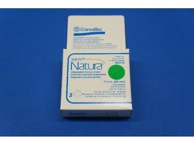 ConvaTec 404010 Sur-Fit Natura Disposable Convex Insert - NEW SEALED BOX OF 5