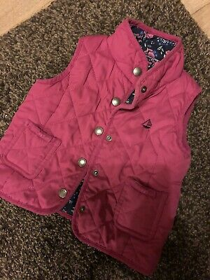 Reversible Pink And Floral Gilet Age 2