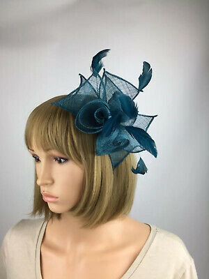 Teal Fascinator Clip Teal Blue Green Wedding Occasion Hatinator Races Ascot Race