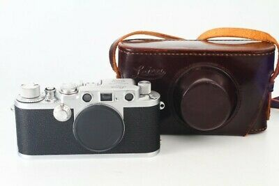 [Excellent+++++] Leica IIIF red dial serial no case beautiful goods from Japan
