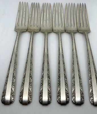 """TOWLE STERLING SILVER CANDLELIGHT Dinner Fork 7 3/4"""" - Pat. 1934 - NO MONO"""