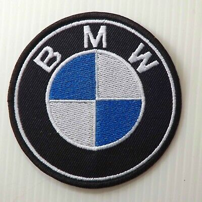 "3.0""x1 pc. bmw motor auto sports racing embroidered iron on sew patches"