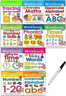 Wipe-Clean Workbook Collection 10 Books Set by Roger Priddy PB NEW