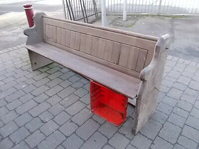 Pine Church Pew  2 metres long  in need of TLC ----- Buyer to collect