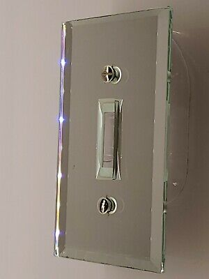 Beveled Mirror Glass Single Toggle Light Switch Cover Plate picture is the item