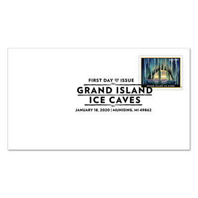 USPS New Grand Island Ice Caves Priority Mail Express� First Day Cover