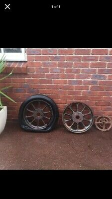Old Antique Wheels X 3