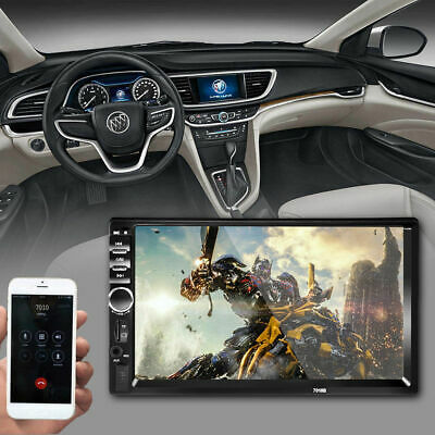 """7"""" Black Car 2Din Touch Screen MP5 Player Bluetooth Stereo & FM Radio USB/TF/AUX"""
