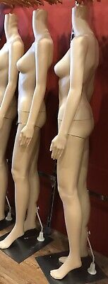 Full Female Mannequin Dummy Without Head Detachable Display Showcase Clothes