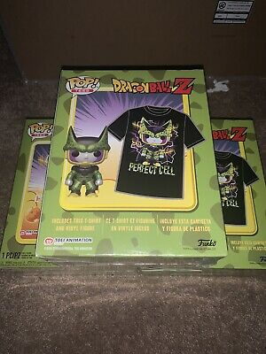 Funko POP Dragon Ball Z Cell Metallic Pop And Tee Bundle Size Large