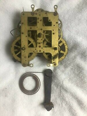 Antique Vintage Seth Thomas Mantel Shelf Clock Movement & Gong - Parts or Repair