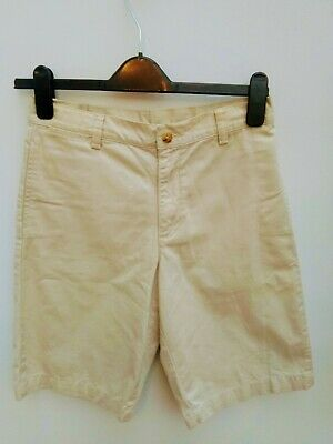 Ralph Lauren Stone Chino Shorts Boys 14 Cotton Tailored Excellent Condition