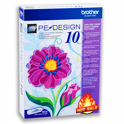 Brother PE Design 10 Embroidery Full Software & Free Gifts ✅ INSTANT DELIVERY