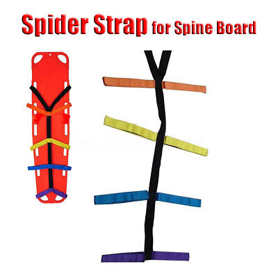 Backboard Color Coded Spider Strap for Spine Board Stretcher Immobilization UK