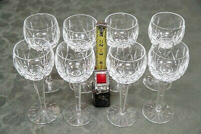 Set of 8 Waterford balloon 8 oz. crystal wine glasses