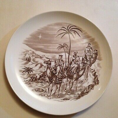 """Vintage Spode Copeland Where is He that is Born - Christmas Nativity 10"""" Plate"""