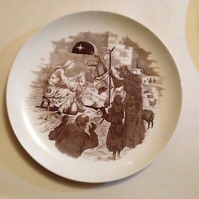 """Vintage Spode Copeland England Away in the Manger Christmas Nativity 10"""" Plate"""